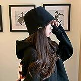 wtnhz Sombrero de Pescador de Doble Cara versión Coreana Femenina de Cubierta Salvaje Cara protección Solar Sombrero para el Sol pequeño Sombrero de Cubo Fresco japonés