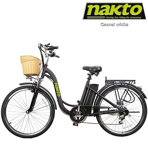 NAKTO Adult Electric Bicycles 26' Electric Bikes for 36V/10Ah/12Ah Ebikes(Camel Black)
