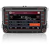 AWESAFE Autoradio 2 Din per VW Volkswagen Golf 5 6 Polo Passat Skoda Seat Tiguan, 7 Pollici con GPS Navigatore Car Radio Supporta la funzione Comandi al volante Bluetooth Vivavoce CD DVD SD USB RDS