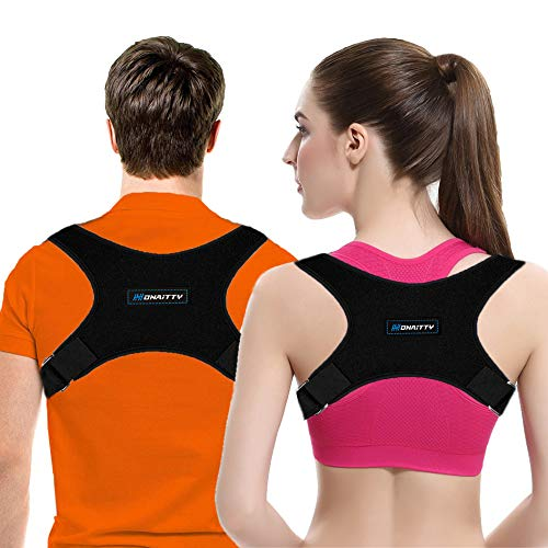 Back Brace Posture Corrector for Women Men - Upper Back Brace Back Straightener for Clavicle Support...