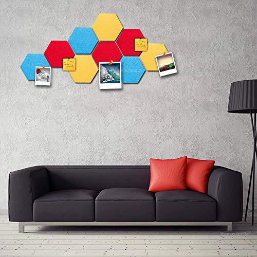 BANNAB Felt Board Tiles Set with Full Sticky Back, Create Your Very Own Wall Bulletin Board Anywhere in Your Home to Create a Handy Place to Keep Notes Photos