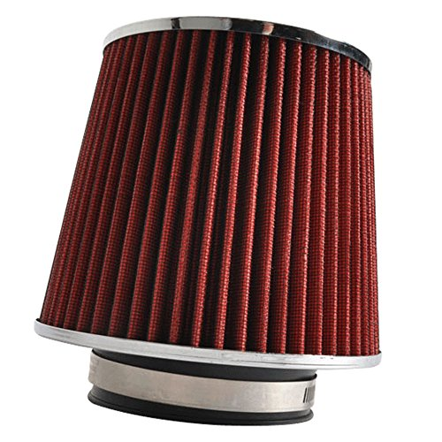 Air Intake Filter Compatible With 2002-2011 Mitsubishi Lancer, Cone Style Red Filter Car Engine Air Induction By IKON MOTORSPORTS, 2003 2004 2005 2006 2007 2008 2009 2010