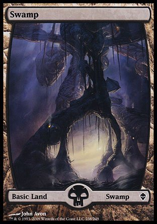 Magic The Gathering - Swamp - Full Art (238) - Zendikar