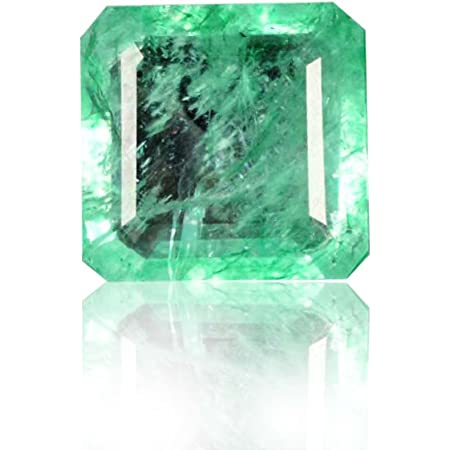 EGL Certified Emerald Shape Loose Gemstone C-2771 Natural Green Emerald 393 Cts
