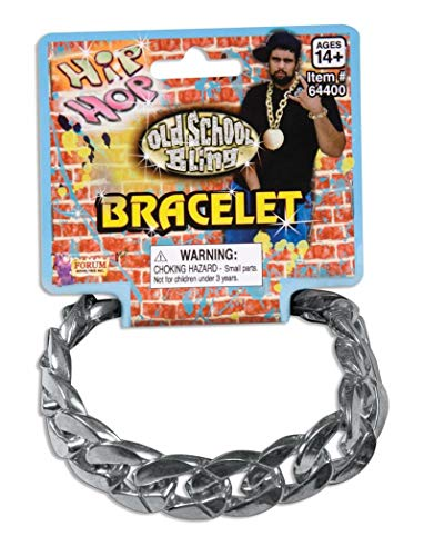 Forum Novelties Big Links Silver Costume Bracelet Accessory