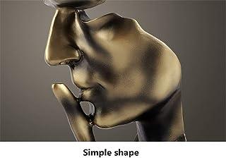 YHviking Main & Visage Statues,Le Silence est d'Or Statue Sculpture,Bureau Figurine Sculptures Abstraite,Résine Fini à la ...