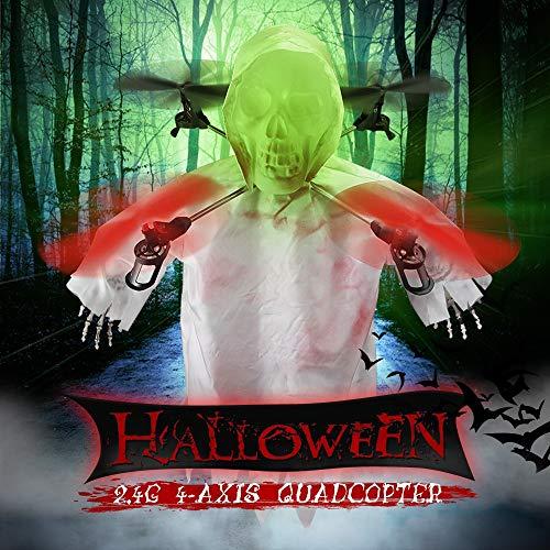 JJRC Lugia Global 1031 Halloween Skull RC Drone Night Flight Control Headless Mode One Key Return Dron Creative Gifts (White)