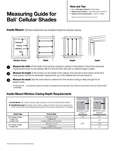 "Bali Blinds Custom Blackout Cellular Shade with Cord Lift, 3/8"" Fabric, Double Cell Midnight Mesa, 72"" x 60"""