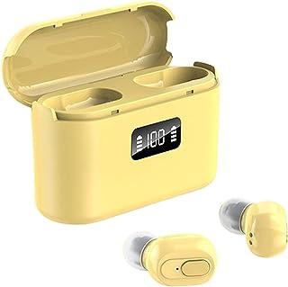 Auleset TWS Trådlös Bluetooth 5.1 uppladdningsbar smart touch stereo hörlurar med mikrofon - gul