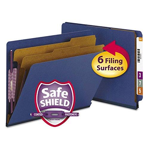 SMEAD26784 프레스 보드 끝 탭 분류 폴더 편지 6 섹션 진한 파란색 10 | 상자