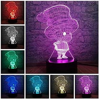 Luz LED 3D Regalos de Navidad Luces de juego Luz LED nocturna 3D Luz ambiental de 7 colores Lámpara USB Iluminación infantil para niños Regalo con control remoto