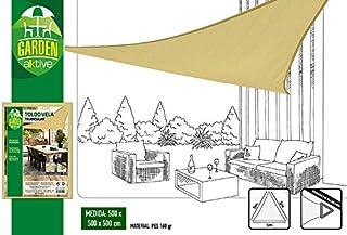 Aktive Garden 53909 - Toldo Vela Triangular Color Crema 500