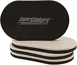 """SuperSliders 4705195N Reusable Furniture Movers for Hardwood Floors – Quickly and Easily Move Any Item 3-1/2"""" x 6"""" Linen (4 Pack)"""