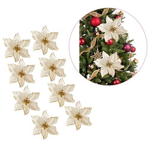 Polly Online Flores del árbol de Navidad Flor Artificial