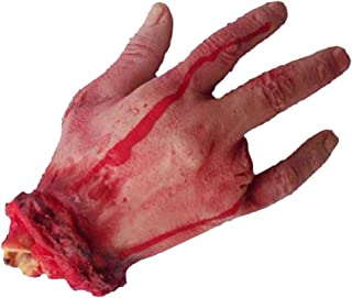 Honmofun Scary Hand Severed Hand Trick Severed Body Parts Severed Limbs Severed Arm Prop Bloody Fake Hand Severed Limbs Severed Limbs Prop Bloody Limbs Gag Toys & Practical Jokes