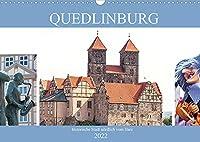 Quedlinburg - historische Stadt noerdlich vom Harz (Wandkalender 2022 DIN A3 quer): Quedlinburg - mittelalterliche Stadt (Monatskalender, 14 Seiten )