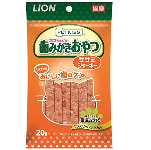ライオン(LION)ペットキッス(PETKISS)ネコちゃんの歯みがきおやつササミジャーキー20g×4個(まとめ買い)
