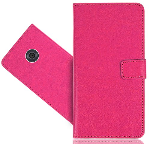 Vodafone Smart First 7 Case, FoneExpert Genuine Leather Kickstand Flip Wallet Bag Case Cover For Vodafone Smart First 7