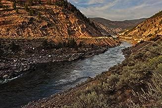 Poster Thompson River Valley - Art Print Canvas Decorative Fine Art Print, Unframed (35.4x23.6Inch)