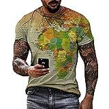 Shirt Hombre Verano Clásica Moda Cuello Redondo Regular Fit Hombre...