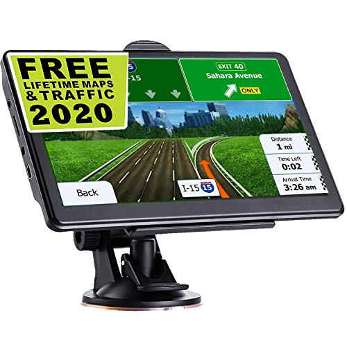 GPS Navigation for Car, Latest 2020 Map 7 inch Touch Screen Car GPS 256MB-8GB, Voice Turn Direction Guidance, Support Speed and Red Light Warning, Pre-Installed North America Lifetime map Free Update