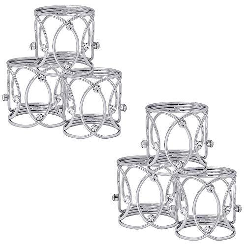 Handmade Napkin Rings Napkin Rings,6 Pcs Metal Napkin Holder Buckles Serviette Rings for Wedding Party Dinner Table Decoration Holder for Dinning Table Parties Everyday