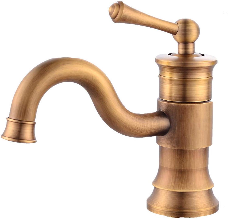 DeLongKe Moderne Waschbecken Wasserhahn - Einhandgriff - Antik drehbar - Kupfer