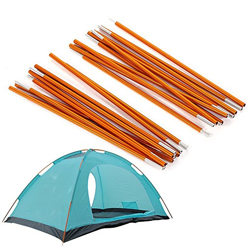 2pcs Aluminum Alloy Tent Pole Support Replacement Accessory for Camping Hiking, 142 inch/pc (Style 1)