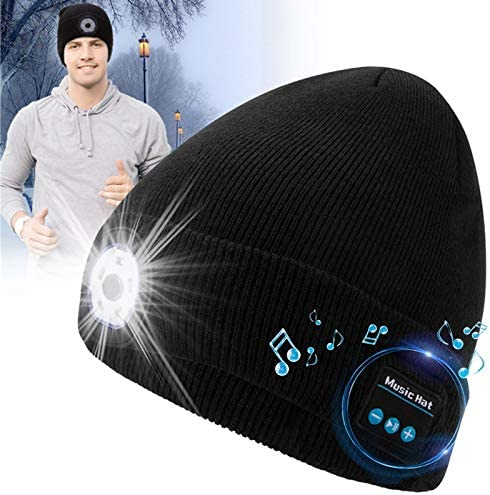 Sweethat Bluetooth Beanie Hat Upgraded with Speaker Winter Bluetooth Hats with Mic Beanie Headphones product image