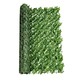 Kining Seto Artificial Verde,Paneles De Setos Artificial Pantalla,Seto Artificial Hiedra Hoja Valla De Jardín Rollo Hoja Valla De Jardín Rollo,Seto Artificial para Balcón O Valla En Rollo(1 Pcs)