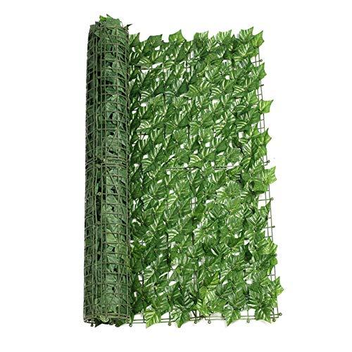 Rubeyul Sichtschutz, Windschutz, Lärmschutz, 300x50 cm, Balkonsichtschutz, Sichtschutz Windschutz Verkleidung für Balkon Terrasse Zaun, Künstliche Hecke, Kunststoff