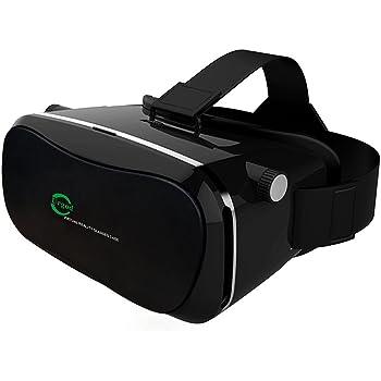 Urgod 3D VR ゴーグル ヘッドセット (ブラック)