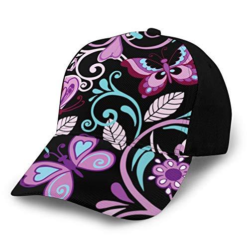 Marcos Estrellas Vector Floral Patrón Sin Costura Con Mariposas Y Flores Ajustable Gorra De Béisbol Coser Sombrero De Los Hombres De Las Mujeres