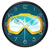 LIMN Reloj de Pared de Dibujos Animados creativos Gafas de esquí...