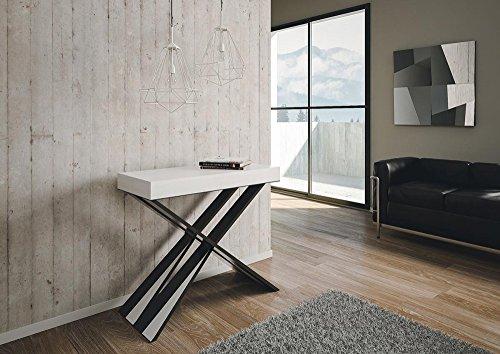 L\'Aquila Design Arredamenti Group Design PA-CO/46-BF Diago Console/table  extensible en frêne pour hall d\'entrée, blanc