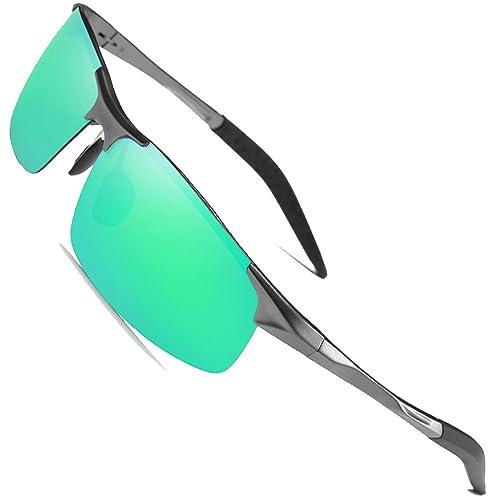 a53686a1f Sunglasses Green Polarized Lens  Amazon.com
