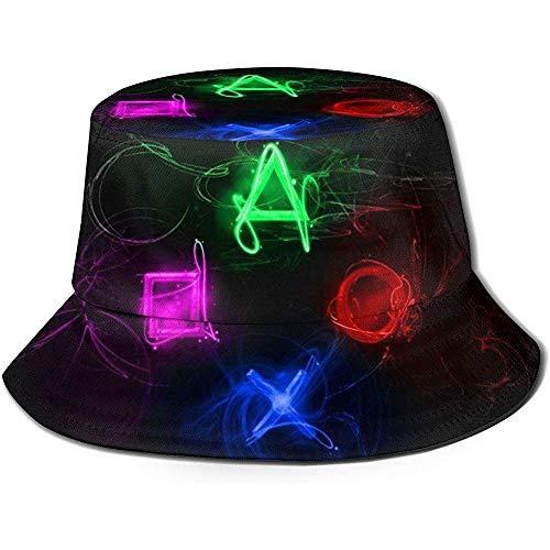 Eimer Hut abstrakte Playstation Buttons Angeln Sonnenhüte atmungsaktiv Fischer Schutzhüte zum Angeln Strand Wandern Camping Garten Bootfahren
