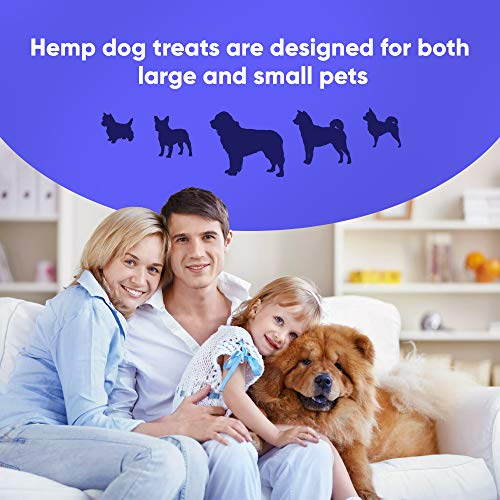 Product Image 5: Happy Garden New Hemp Biscuit Treats For Dogs – Reducing Anxiety & Aggressive Behaviour – Result of Storms, Fireworks & Abandonment 200mg