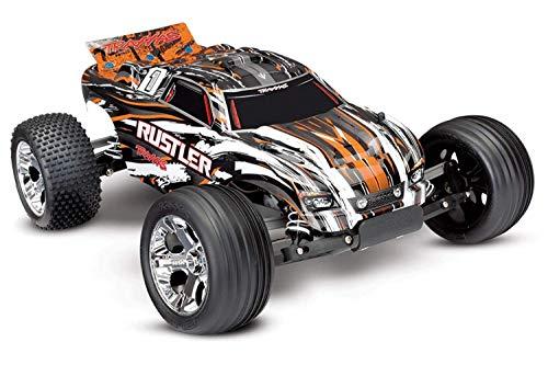 Traxxas RC Buggy Rustler orange RTR +12V Lader +Akku