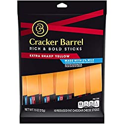 Cracker Barrel Rich & Bold Extra Sharp 2% Milk Cheddar Cheese (10 Sticks)