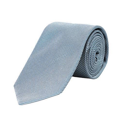 Hugo Boss Gravata masculina multicolorida com estampa geométrica 100% seda