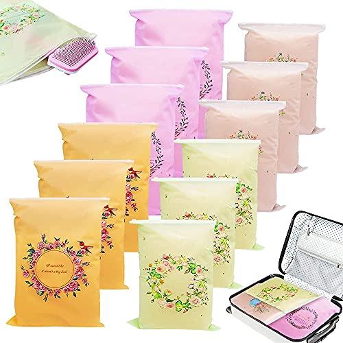 12 bolsas de almacenamiento de viaje, organizador de equipaje impermeable para ahorrar...