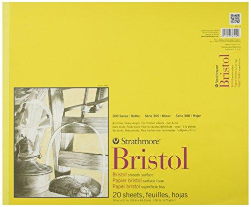 Wandbild Papier Strathmore Bristol glatten Papier Pad 35,6cm x 43cm, 20Blatt