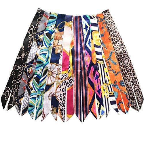 Bag Handbag Handle Ribbon Scarf for Package Band Hair Head Band Neck Scarf Fashion Gifts (5pcs Scarf)