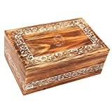 Hind Handicrafts Urnas de cremación de madera hechas a mano y hechas a mano para cenizas humanas, adultos, caja de urna funeraria (X-tra grande: 28 x 18 x 11 cm – 28 libras o 118 kg, madera de pino)