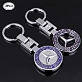 Fitracker 2 pcs NEUF 3d de voiture Logo Porte-clés Porte-clés Emblème en métal Pendentif Porte-clés
