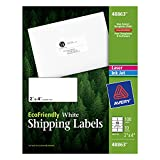 Avery EcoFriendly Mailing Labels for Laser and Ink Jet Printers, 2 x 4 Inches, White, Permanent, Pack of 100 (48863)