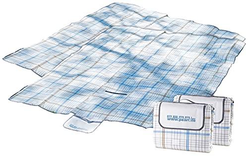 PEARL Iso Picknickdecke: 2er-Set wasserdichte XXL-Picknick-Decken aus Fleece, 2,5 x 2 m (Picknickdecke gepolstert isoliert)