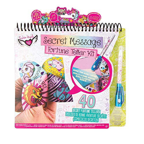 Fashion Angels Paper Fortune Teller Kit 12196, Includes Stickers and Light Sensitive Pen, For Kids 6 and Up