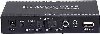 WooDlan NK-A6L 5.1 Equipo de Audio Decodificador de Sonido Digital Convertidor de Audio Salida de Audio de 3.5 mm Soporte ...